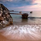 Two boats in Stoupa. by Kostas Pavlis