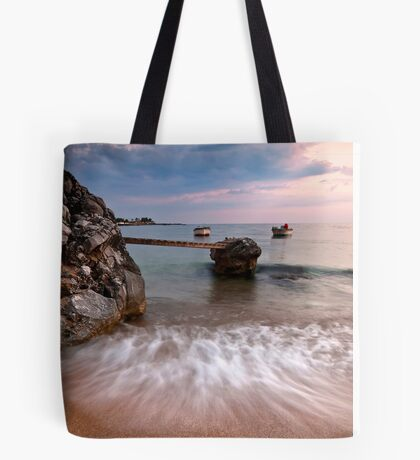 Two boats in Stoupa. Tote Bag
