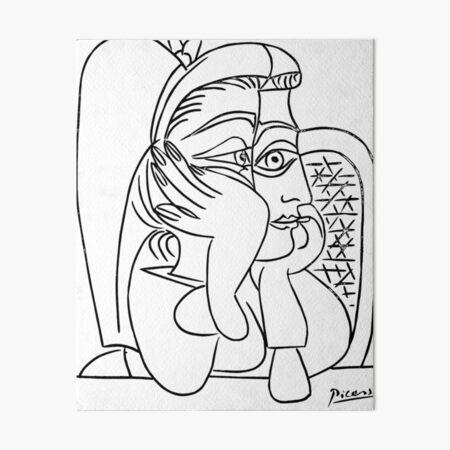 Pablo Picasso Portrait de Jacqueline Accoudee T Shirts, Art Art Board Print