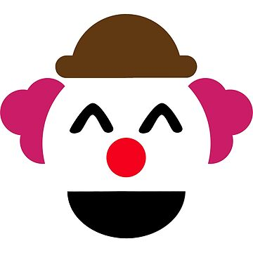 Funny Laughing Clown Emoticon Kids by Sleazoid