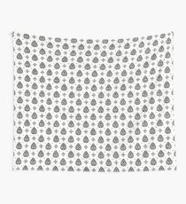 White And Black Thai Pattern Wall Tapestry