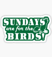 Sundays are for the Birds Eagles Watching Throwback Sticker
