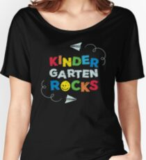 Kindergarten Rocks Little Boys and Girls School Women's Relaxed Fit T-Shirt