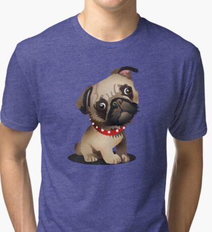 Pug pup Tri-blend T-Shirt