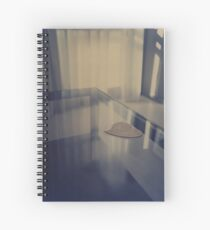 Love heart on table - Hasselblad 500cm hand made darkroom color print Spiral Notebook
