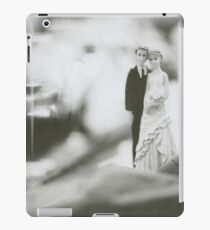 Bride and groom cake topper wedding marriage banquet black and white analog 35mm film photo iPad Case/Skin
