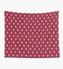 Burgundy Wallpaper Thai Pattern Wall Tapestry