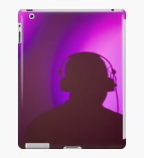 Rap hiphop dance music deejay dj in disco nightclub silhouette iPad Case/Skin