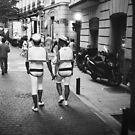 Gay lgbt sailors Chueca Spain analog 35mm film street photo by edwardolive