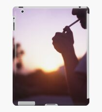 Young man smoking cigarette medium format Hasselblad film photo  iPad Case/Skin