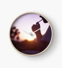 Young man smoking cigarette medium format Hasselblad film photo  Clock