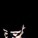 Portrait of scary man Hasselblad medium format gelatin photo by edwardolive