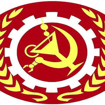 Fully Automated Communism (oval) by Hughbris