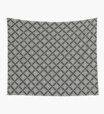 Floral Black And White Thai Pattern Wall Tapestry