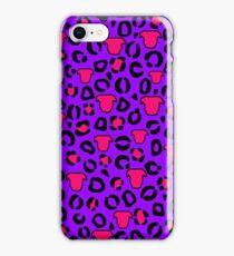 Leopard Pit Bull Print Purple iPhone Case/Skin