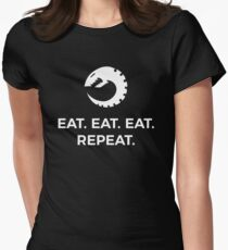 Eat Eat Eat Repeat Fitted T-Shirt