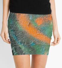 Orange Disc Mini Skirt