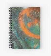 Orange Disc Spiral Notebook