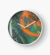 Orange Disc Clock