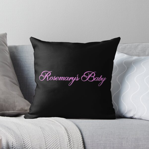 Rosemary's Baby Title  Throw Pillow