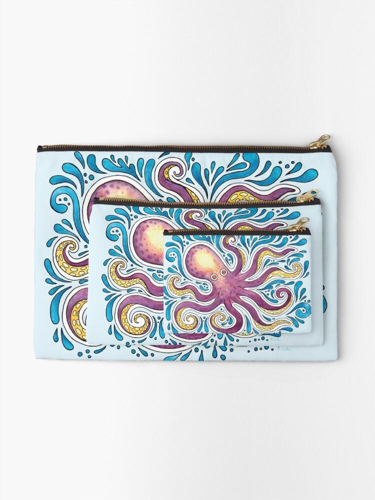 Alternate view of Purple Octopus Zipper Pouch