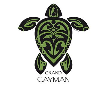 Black & Green Tribal Turtle Tattoo / Grand Cayman by srwdesign