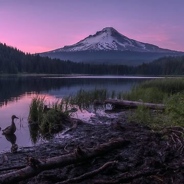 Trillium Lake at dusk, Oregon by mattmacpherson