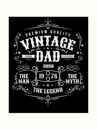 Vintage Dad Born 1978 40th Birthday Gift For Or Papa