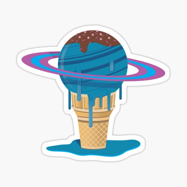 Space is Sweet- Ice Cream Cone Sticker