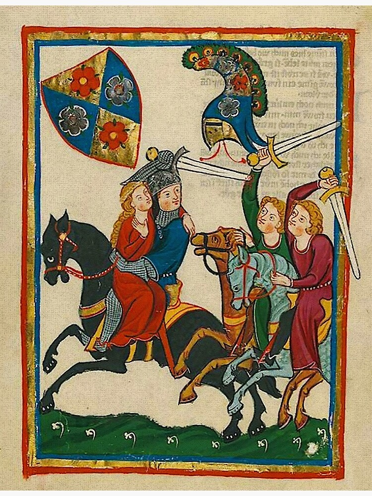 Frederick the Apprentice Knight abducts his lady by edsimoneit