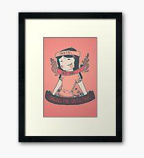 [cheese queen] Framed Print