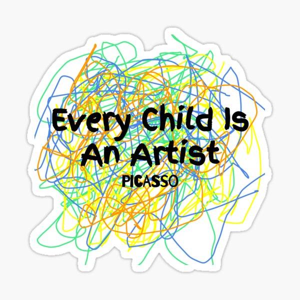 Children are artists Sticker