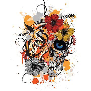 Tiger skull by jama777