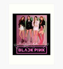 Blackpink - Square Up: Group (With Logo & PRINTED Autographs) #2 Art Print