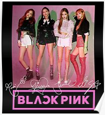 Blackpink - Square Up: Group (mit Logo & GEDRUCKTE Autogramme) # 2 Poster