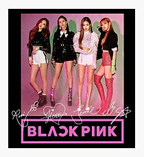 Blackpink - Square Up: Group (With Logo & PRINTED Autographs) #2 Photographic Print