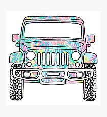 Lilly Jeep Photographic Print