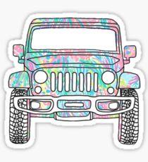 Lilly Jeep Sticker