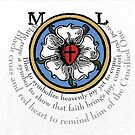 Martin Luther Rose with Descriptive Text by edsimoneit