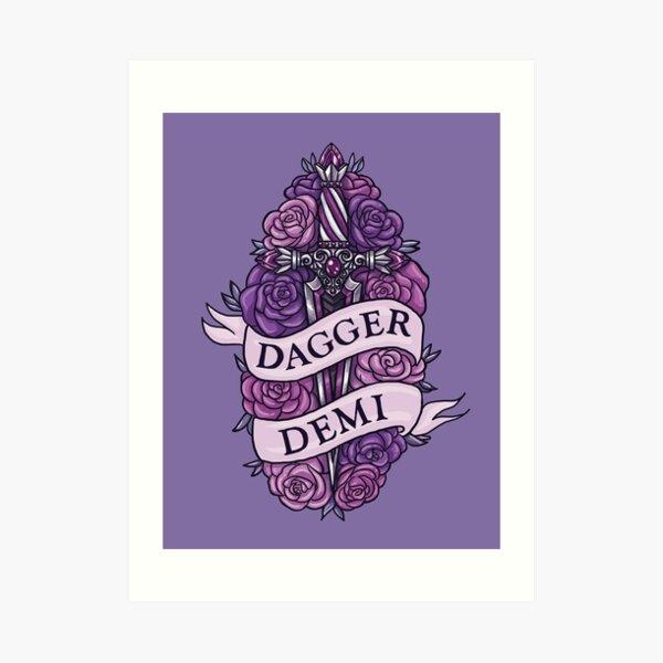 DAGGER DEMI Art Print