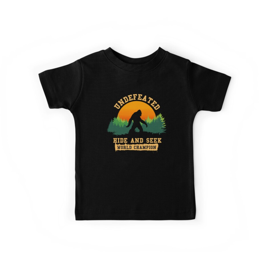 9ff95ea7 Undefeated Hide and Seek World Champion T shirt Bigfoot T shirt ...