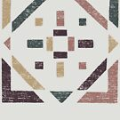 Abstract With Earth Tones - Distressed Geometry by Denis Marsili