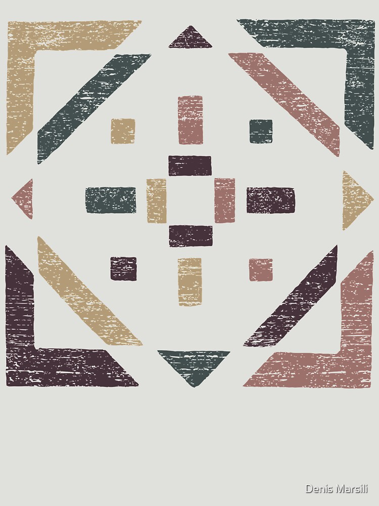 Abstract With Earth Tones - Distressed Geometry by ddtk