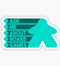 Ask Me About Board Games Sticker