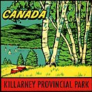 Killarney Provincial Park Ontario Vintage Travel Decal by hilda74