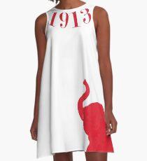 Der Kragen von 1913 von HeavenNezCree A-Linien Kleid