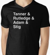 Top Gear USA Band Tribute Men's V-Neck T-Shirt