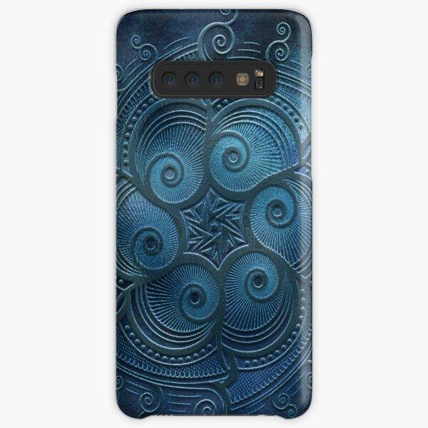 Mobile skin mandala blue too Samsung Galaxy Snap Case