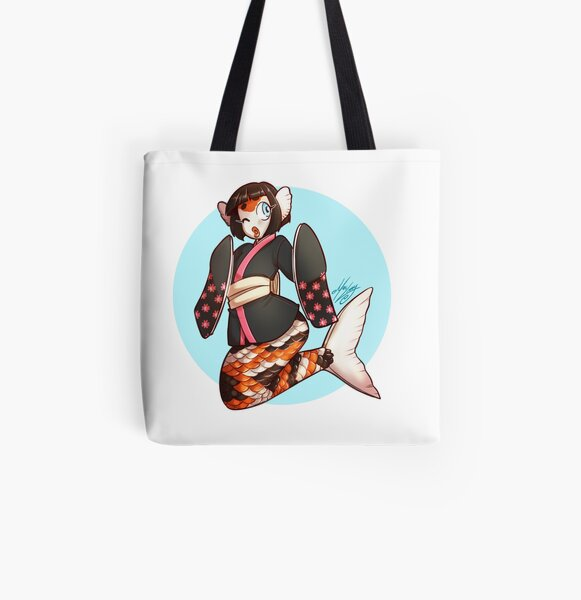 Koi Mermaid All Over Print Tote Bag