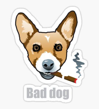 Bad Dog Smoking Cigar Sticker